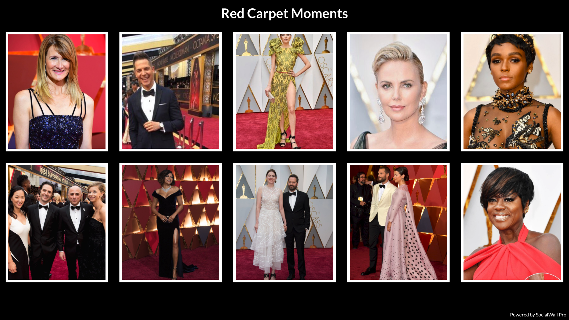 Photo Grid of Red Carpet moments from the Oscars