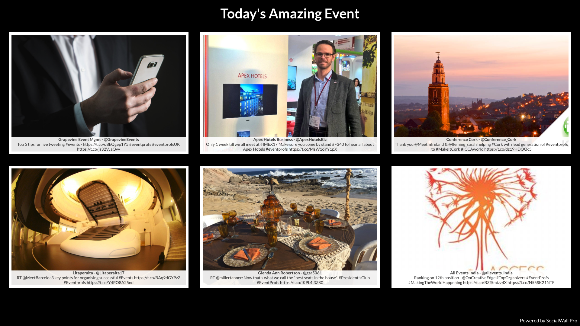 Photo Grid on Social Wall for Events