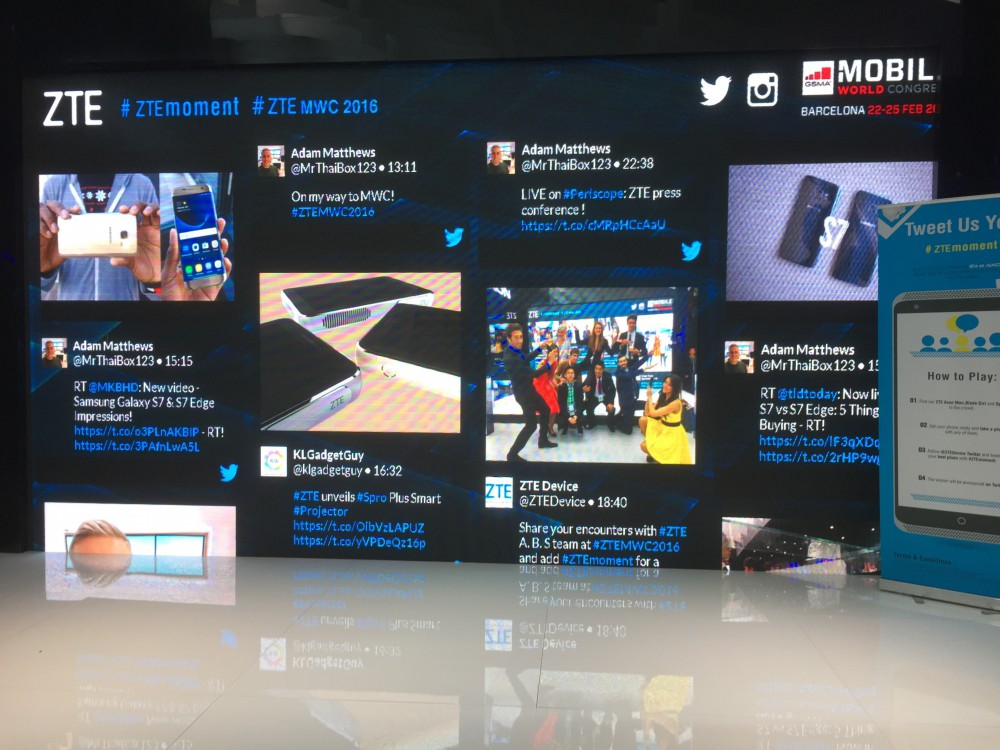 ZTE Social Wall at Mobile World Congress