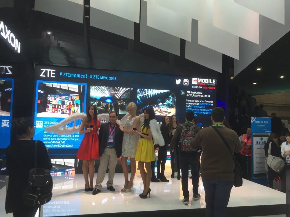 Social Wall on ZTE stand Mobile World Congress