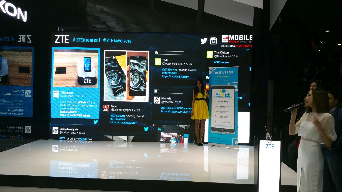 Live Social Wall ZTE Mobile World Congress