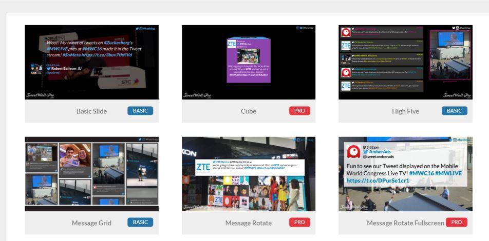 Social wall templates design social wall socialwall pro standard templates maxwellsz