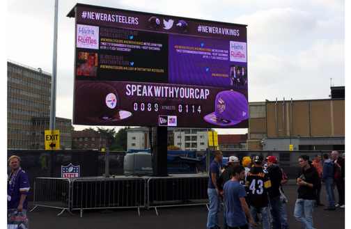 #SpeakWithYourCap competitive social wall for New Era Caps